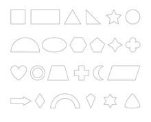 Geometrische Formen Sammlung In Weiß, Vektor Illustration Isoliert Auf Weißem Hintergrund