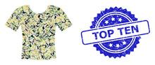 Distress Top Ten Stamp And Mil...
