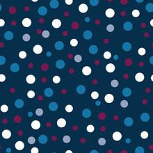 Classic Navy Polka Dots Seamless Pattern Print