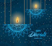 Happy Diwali Hanging Mandalas ...