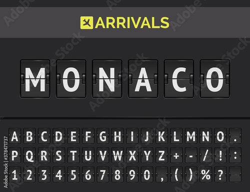 Photo Vector illustration of arrivals mechanical scoreboard
