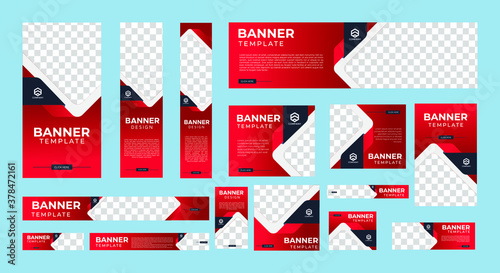 Fotografía Set of Creative Web Banners of Standard Size with a Place for Photos