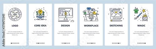 Fotografía Graphic designer workspace