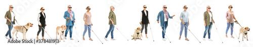 Fotografie, Obraz Blind women on white background