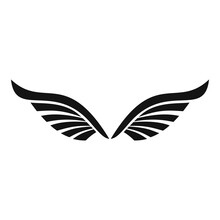 Bird Wings Icon. Simple Illustration Of Bird Wings Vector Icon For Web Design Isolated On White Background