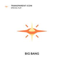Big Bang Vector Icon. Flat Style Illustration. EPS 10 Vector.