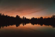 Majestic Sunset Over Silhouett...