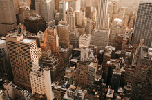 Aerial View Highrise Buildings...