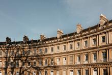 Sunny Curved Building, Bath, S...