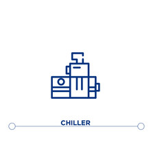 Chiller Outline Vector Icon. S...