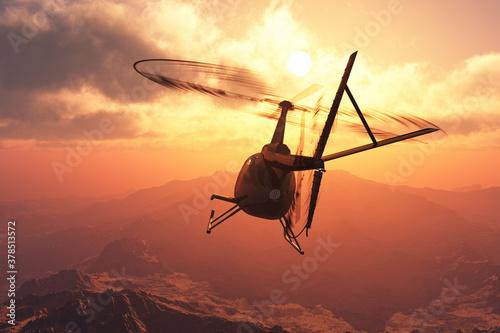 Fotografia Civilian helicopter
