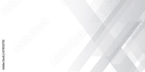 White abstract presentation background. Grey white abstract background geometry shine and layer element vector for presentation design. Suit for business, corporate, institution, party, festive