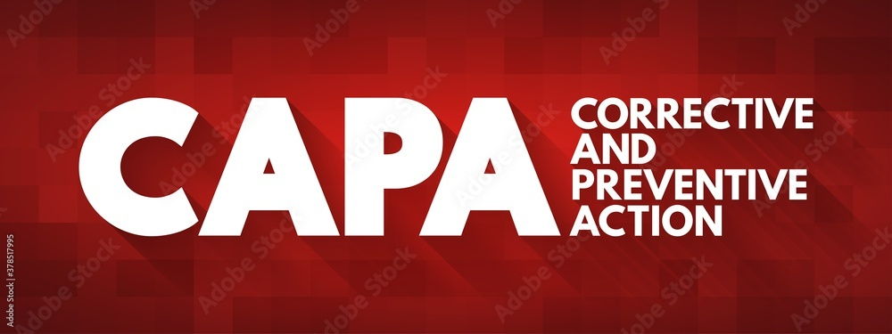 Fototapeta CAPA - Corrective and preventive action acronym, business concept background