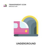 Underground Vector Icon. Flat Style Illustration. EPS 10 Vector.