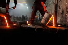 Liquid Molten Steel Industry. ...