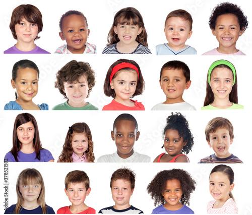 Obraz na płótnie Kids Collage