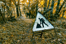 An Abandoned Road Sign In The ...