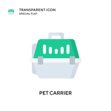 Pet Carrier Vector Icon. Flat ...