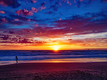 Sunset Blue Hour On The Beach ...