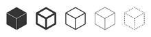Cube Vector Icons. Black Cube ...