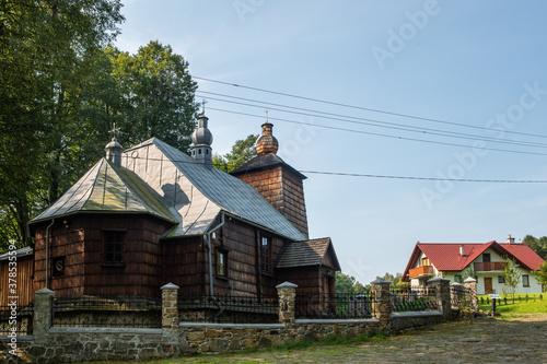 Photo Drewniany kościół filialny w Bonarówce, dawna cerkiew greko-katolicka