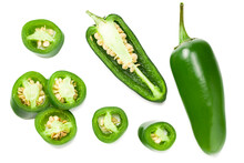 Sliced Jalapeno Peppers Isolat...