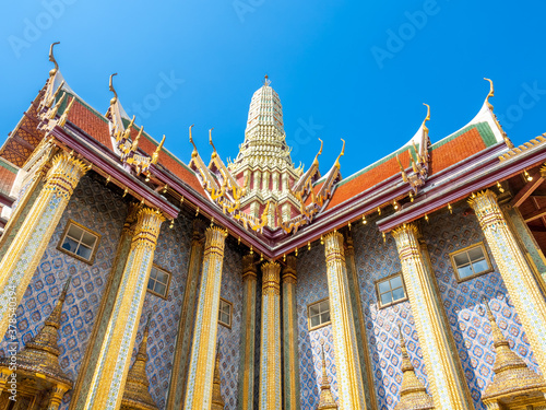 The Royal Pantheon, unique beautiful building in The Temple of Emerald Buddha, l Tapéta, Fotótapéta