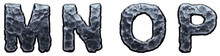 Set Of Capital Letters M, N, O...