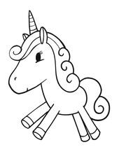 Cute Vector Unicorn Illustrati...