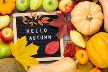 Autumn Still Life Image With P...