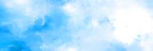 Beautiful Watercolor White Blu...