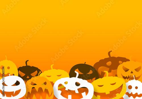 Photo sfondo, cartolina, zucche, halloween,