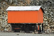 Old Abandoned Hut On Half Moon Island, Antarctica