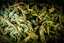 Macro Of Dried Chinese Tea Of ...