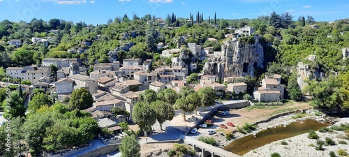 Fotografiet Le village de Labeaume en Ardèche en France