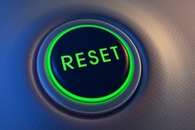 Green Glowing Reset Button On ...