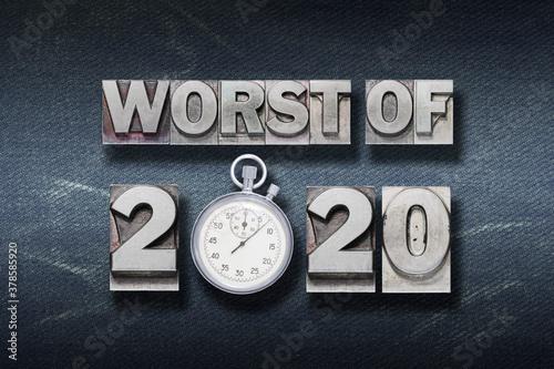 Fototapeta worst of 2020 W den obraz
