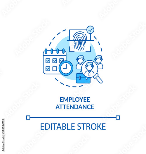 Photo Employee attendance concept icon