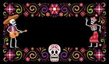Day Of Dead Dia De Muertos Orn...