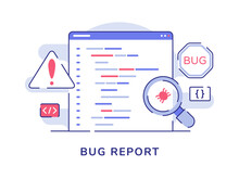 Bug Report Concept Magnifying ...