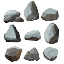 Colored Cartoon Stones. Granit...
