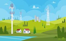 Communication Towers. Wireless...