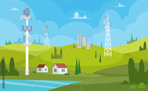 Valokuva Communication towers