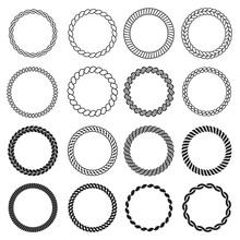 Round Rope Shapes. Circle Naut...