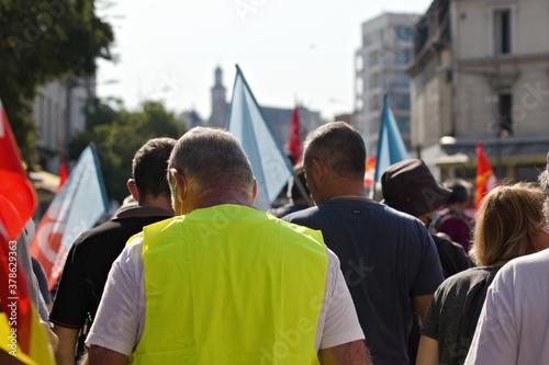 Valokuvatapetti gilets jaunes manifestation