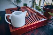 Teaware On Tea Board. Traditio...