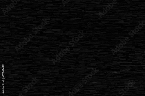 Black Brick Wall Texture - Black Abstract Background - Dark Backdrop