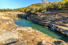 Canyon Lake Gorge Formed In 2002 After Many Inches Of Rain Fell And Washed Out The Land. Just Outside Of New Branfels, Texas The Gorge Has Uncovered Dinosaur Tracks, Fossils,  Interesting Geologically