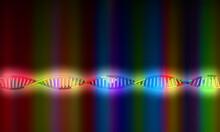 Multicolored Glowing DNA Molec...
