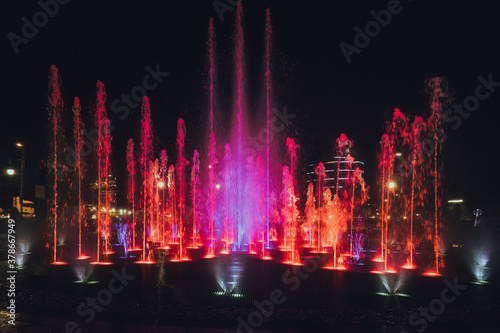 Foto fountain at night
